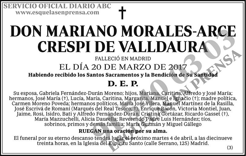 Mariano Morales-Arce Crespi de Valldaura